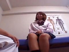 Teen in nurses uniform fingering her soaking wet pussy