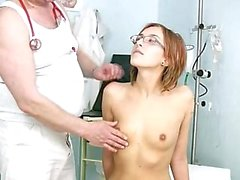 Jane pussy exam on gyno chair