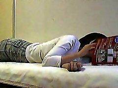 Asian Slut Masturbating In Bed