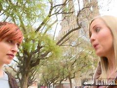 Hot Lesbians Caomei Bala and Sicilia Share a Vibrator
