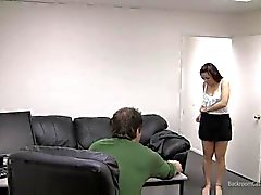 Cute amateur takes creampie