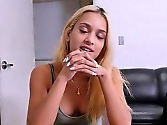 Big booty teen blonde Uma Jolie gets fucked on casting