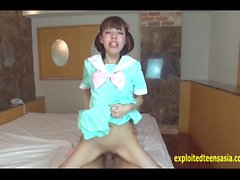 Jav Amateur Shion Buck Tooth Teen Shoves Cock In Her Pussy