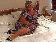old amateur granny masturbate on...