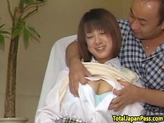 Cocksucking asian teen fucked from behind
