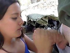 Latina teen babe sucks