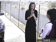 PURE TABOO Schoolgirl Gina Valentina Punished by Couple