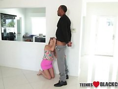 Tiny teen spunked by bbc