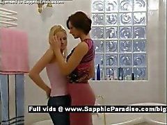 Jo and Cameron from sapphic erotica lesbo girls kissing
