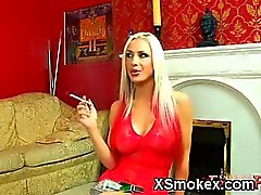 Alluring Teen Smoking Ready To Fuck