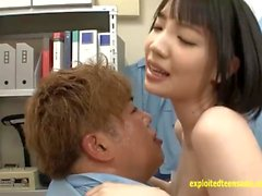 Zuzuki Koharu Ambushed At School And Fucked In Caretakers Office Big Tits