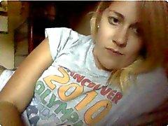 Shaved webcam girl gets fully nude