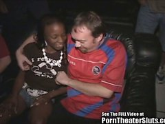 Fit Black Chick Ravaged in Porno Theater