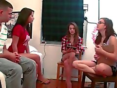 Teen babysitters playing with dildo dick