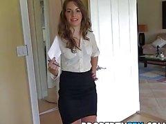 Described Video - Insanely hot realtor flirts and fucks on camera