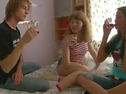 Threesome With Two Teen Girls