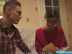 Spex teenie screwed by a stranger