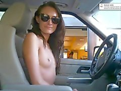 Crazy girl order at McDrive completely naked