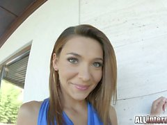 Petite Alexis Brill gets her teen pussy fucked in a variety
