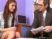 Horny teacher seducing teen