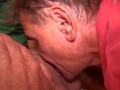 Old men fuck young blonde