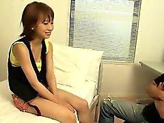 Yui Misaki young hottie sucks cock with passion