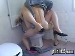Fucked Against Her Will In A Washroom
