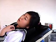 Japanese girl gets checked out by the doctor and her cunt e