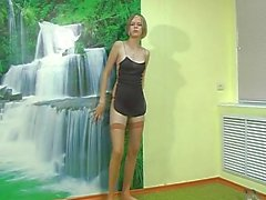 Cute russian girl Vika Y posing on panties for photoshoot