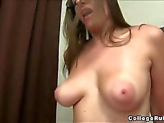 Busty chubby babe fucked in the dorm