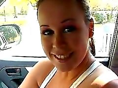 Sexy Teenager Handjob In The Car