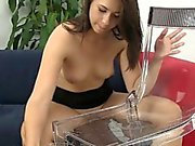 Urine drinking babe quenching her pee thirst