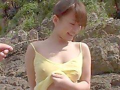 KATSURAGI Natsumi on the beach