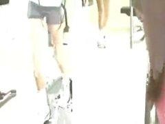 Lesbian Gym Seduction