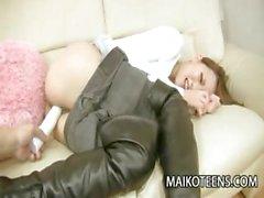 Horny Shaved Pussy of Japanese Teen Kanae Nagata