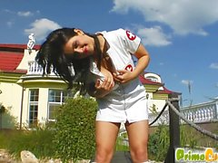 Prime Cups Curvy busty teen shows her skills in sucking
