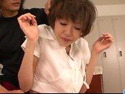 Amateur Japanese porn scenes with slim Akina Hara