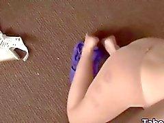 Pantyhose teen babe sucking a dick hard