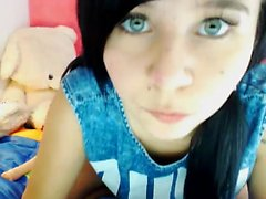 Hottest and cute Amateur 19yo Brunette Teen strips on Webcam