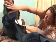 Mary Jane and Byron Long interracial fucking and creaming in bed after BJ