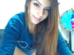 Fit teen brunette on cam