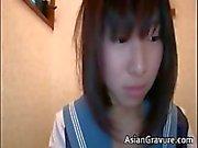 Nasty oriental schoolgirl sucks weiner part3