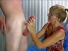 Awesome Handjob with Humorous Ending