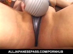 Superb hardcore sex with toys along Misuzu Imai