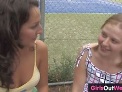 Hot tennis couch licked by lesbian trainee