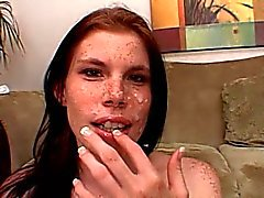 Freckle Faced Skinny Holly Anal Fucking