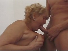Horny grandma takes young cock in all holes