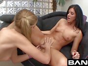 Chastity and friends pleasuring cocks