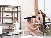Red head teen is fucking in pantyhouse