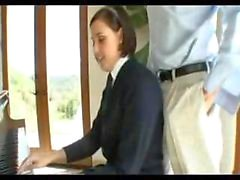 Schoolgirl in Uniform seduced by Old Teacher